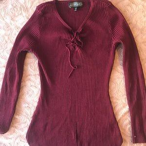 fall burgundy top